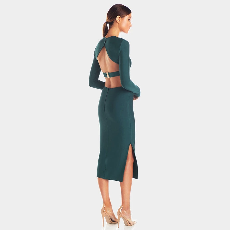 Just Another Backless Midi Dress - Couture Look