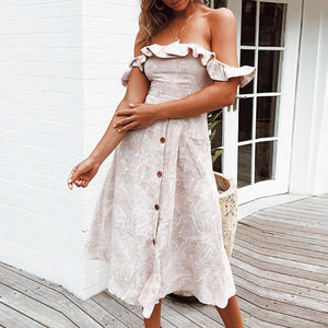 Falling For You Shoulder Bow Vintage Dress - Couture Look