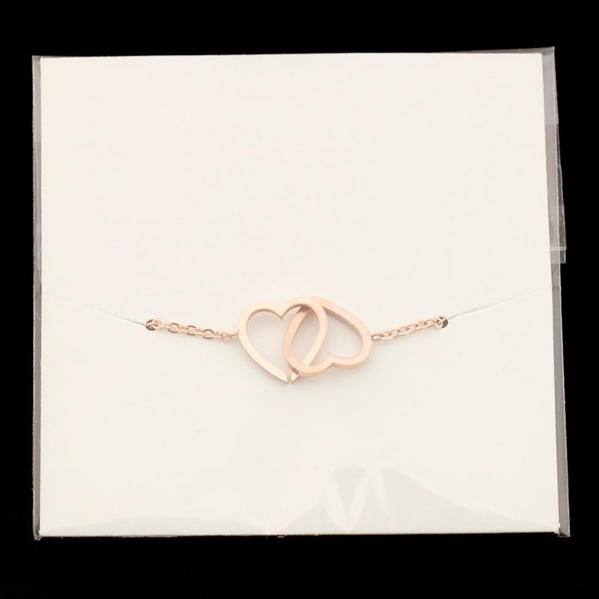 Double Heart Charm Bracelet - Couture Look