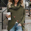 Asymmetrical Turtleneck Knitted Sweater