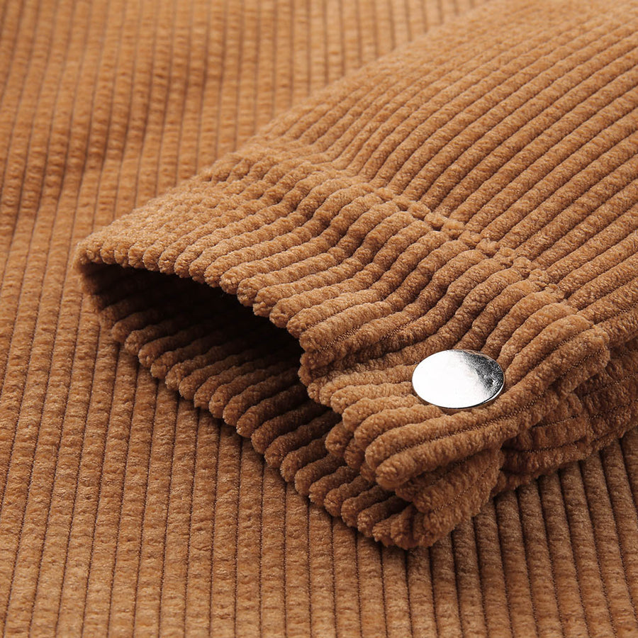 Wool and Corduroy Winter Coat