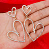 Romantic Heart Drop Statement Earrings