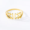 Chevron Geometric Ring - Couture Look