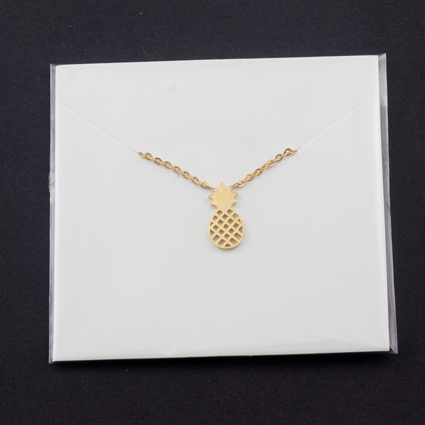 Pineapple Charm Necklace - Couture Look