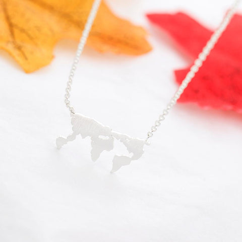 Image of Travel The World Pendant Necklace