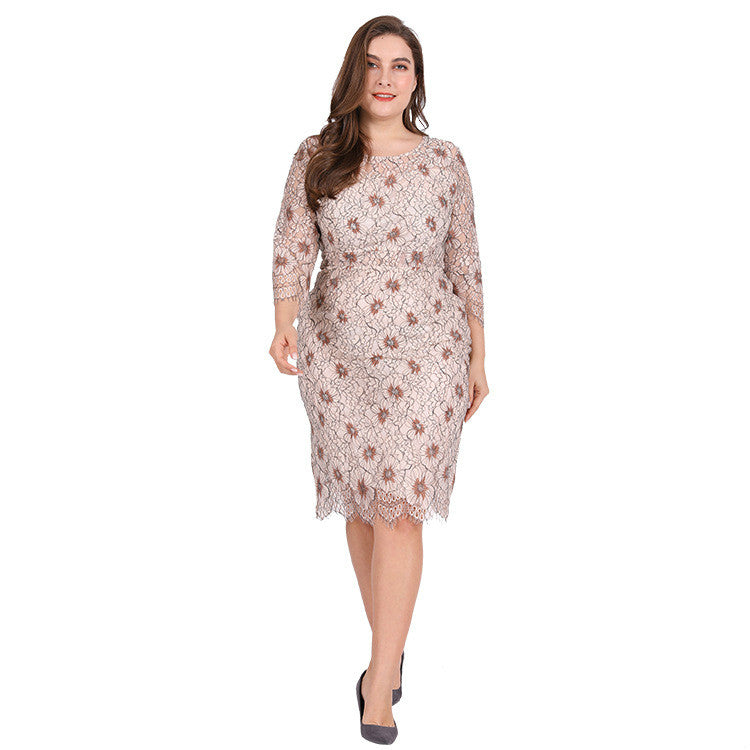 Pierre Sweet Elegant Plus Size Dress - Couture Look