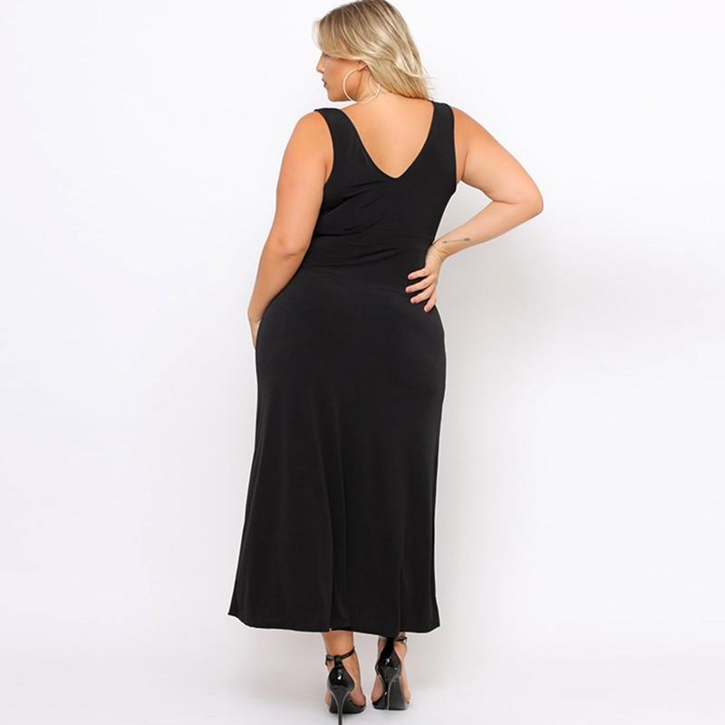 Above & Beyond Sexy Black Plus Size Dress - Couture Look