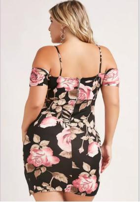 Image of Summer Ready Sexy Sheath Plus Size Dress - Couture Look