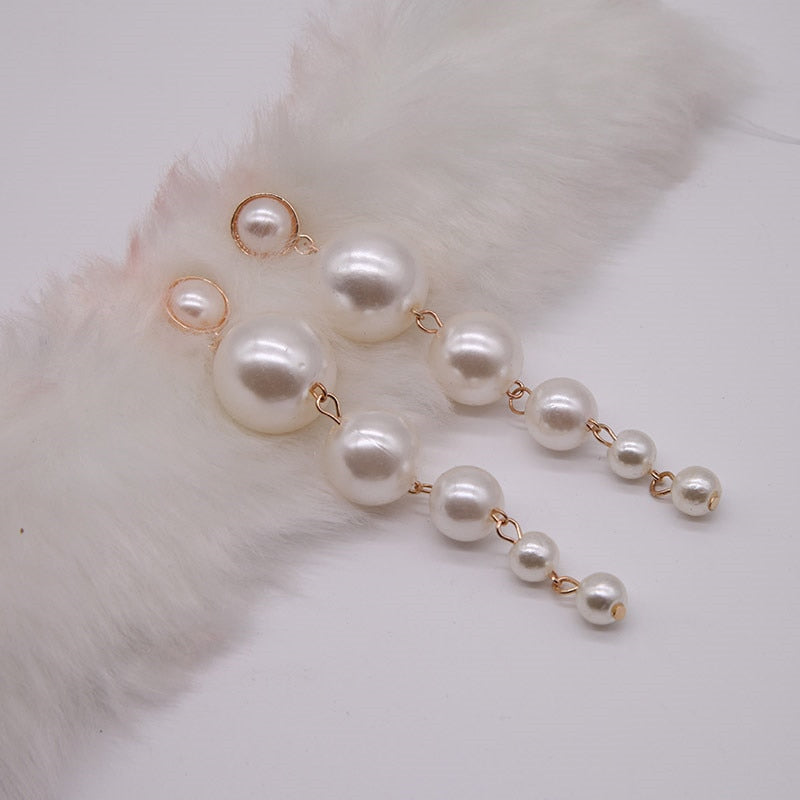 Young Executive Freshwater Long Beads Pearl Earrings - Couture Look
