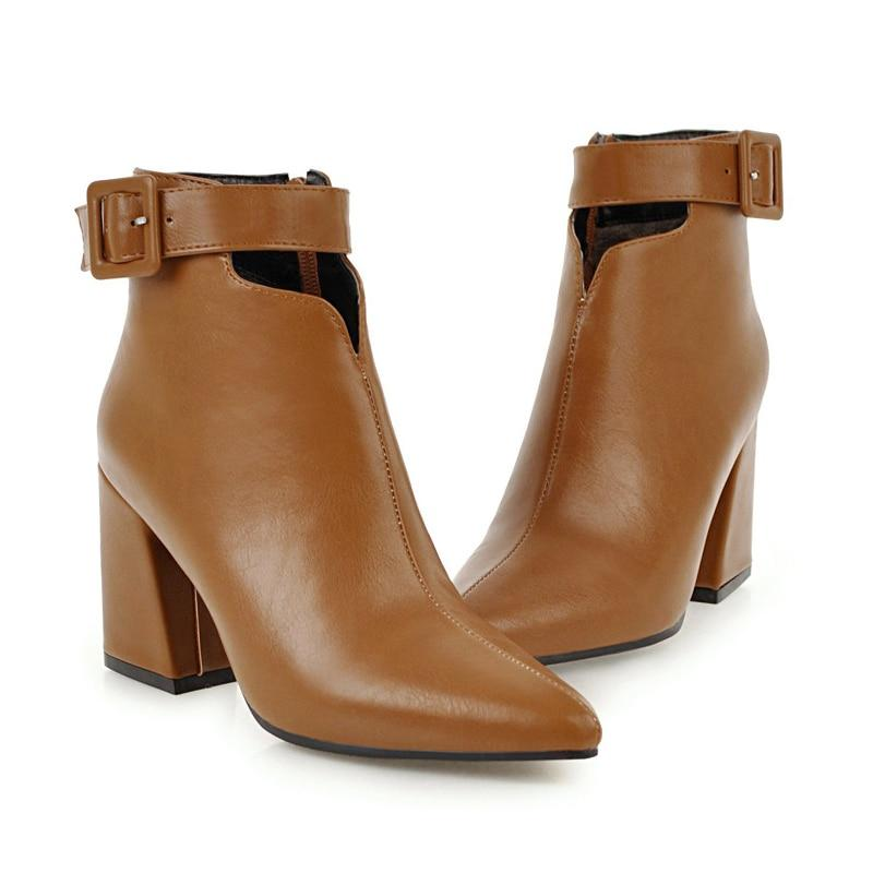 Peachy Princess Kaia Ankle Strap High Heels Boots - Couture Look