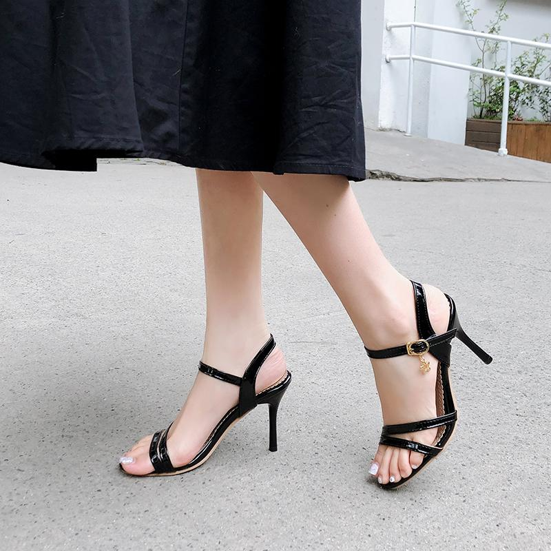 Double Strap Thin High Heels Sandals - Couture Look