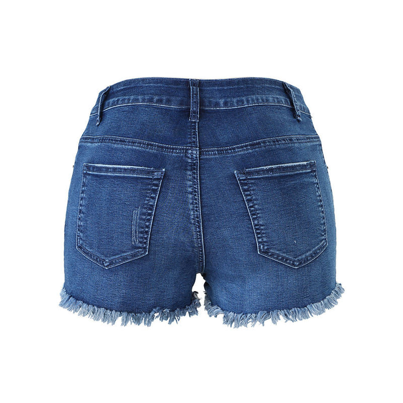 Denim Babe Distressed and Sexy High-Waisted Shorts - Couture Look