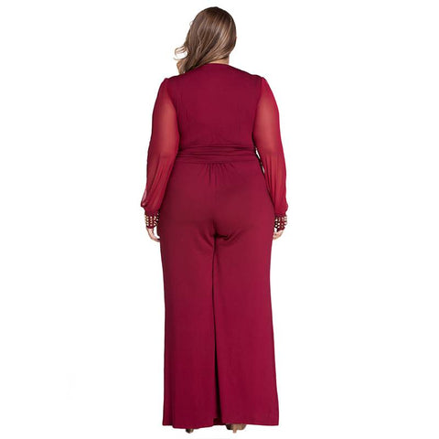 Image of Set On Fire Overall Plus Size Jumpsuit - Couture Look