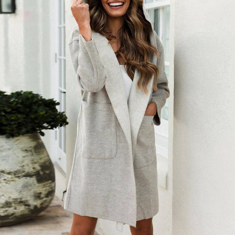 Delight High Fashion Winter Hood Coat - Couture Look
