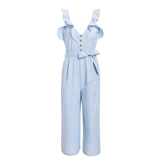Reminiscing Cher in Light Blue Jumpsuit - Couture Look