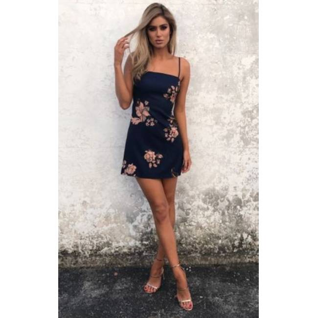 Sunshine Floral  Strapless Tank Dress