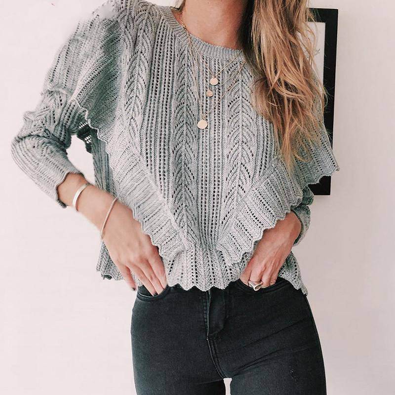 Campfire Buddy Long Sleeve Sweater - Couture Look