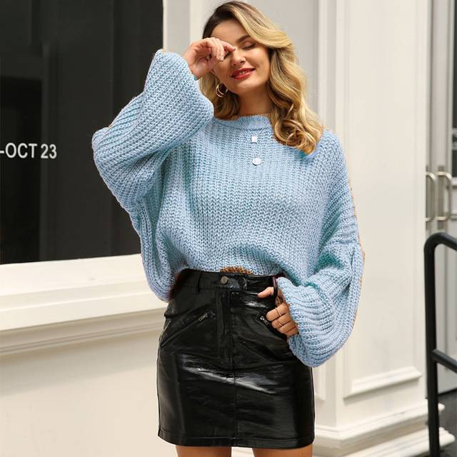 Cuddle Weather Lantern Sleeve Sweater - Couture Look