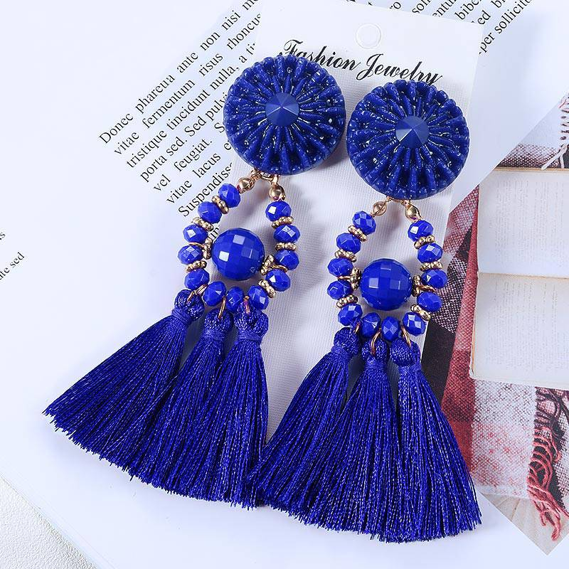 Beach Life Bohemian Ethnic Tassel Earrings - Couture Look