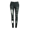 Slash To Perfection Tatter Patch Jeans - Couture Look