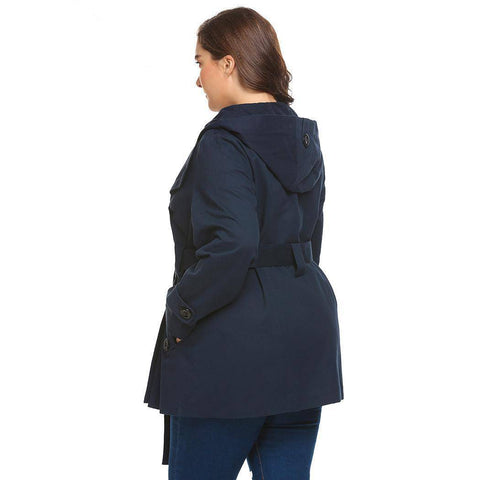 Express Yourself Hooded Trench Plus Size Coat - Couture Look