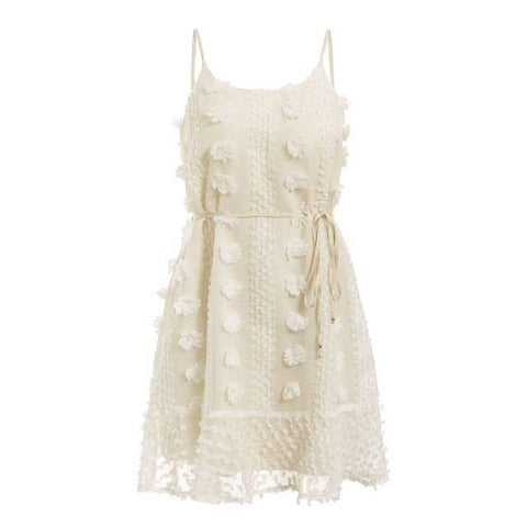 Carlotta Ruffles Knee-Length Mini Sundress - Couture Look