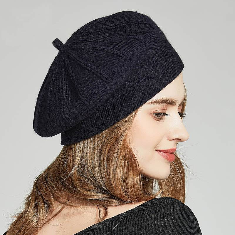 Vivienne Autumn Knitted Wool Caps - Couture Look