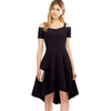 Stylish Work Strap Slash Casual Flare Dress