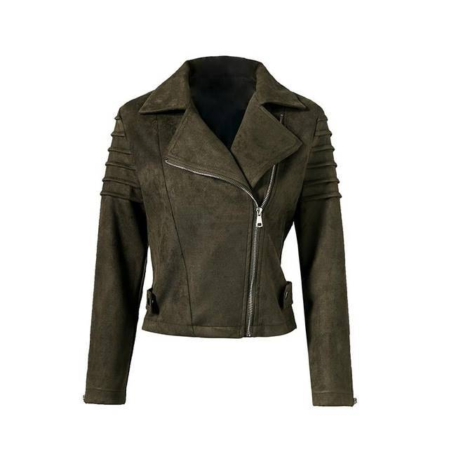 You Rock Rosie Suede Leather Jacket - Couture Look