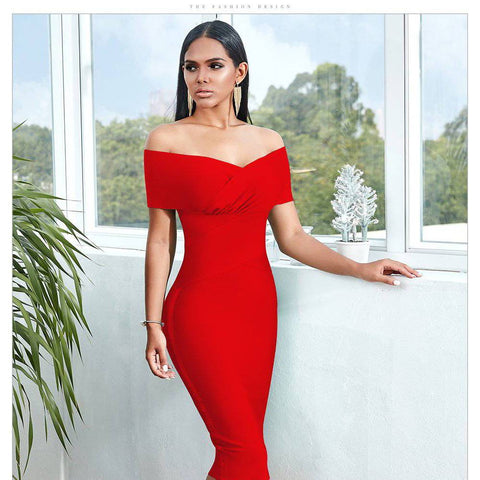 Sexy Shoulder-Baring Sweetheart Dress