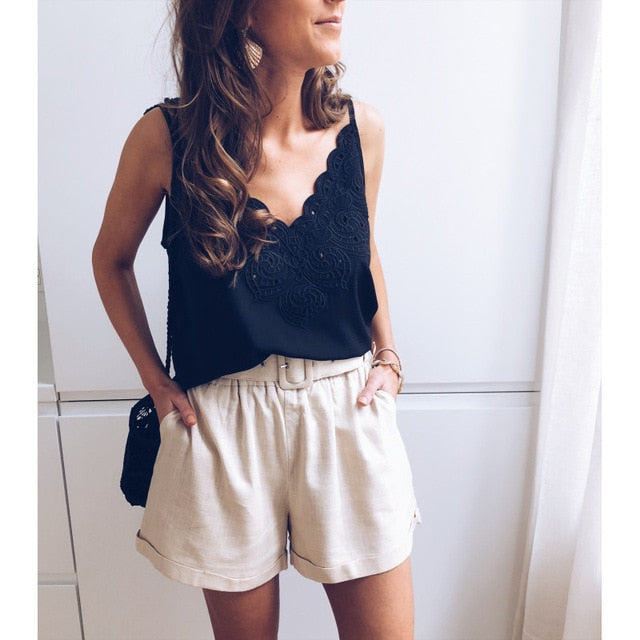 Chic's Bestfriend Lacy Sleeveless Top - Couture Look