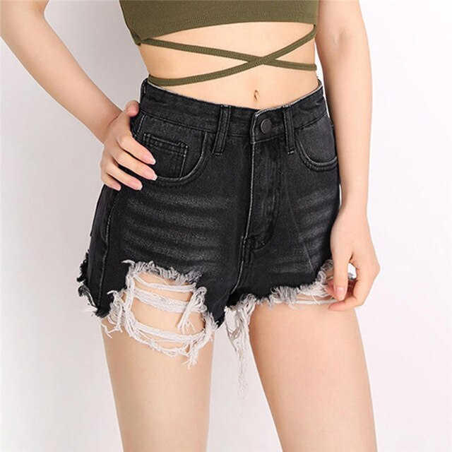 Hey Shorty Half Ripped Jeans Short - Couture Look