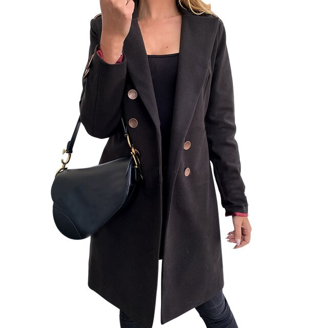 Fresh Start Double Breasted Trench Coat