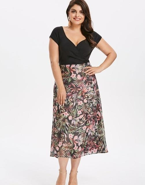 Collete Bohemian Plus Size Casual Dress - Couture Look