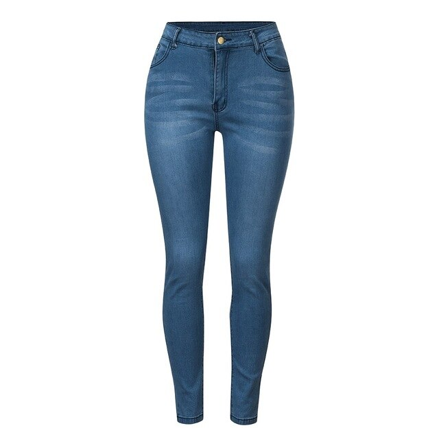 Cushy High Waist Stretch Skinny Jeans - Couture Look