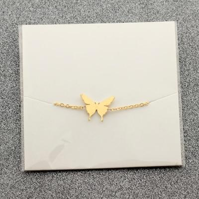 Dainty Butterfly Charm Bracelet - Couture Look