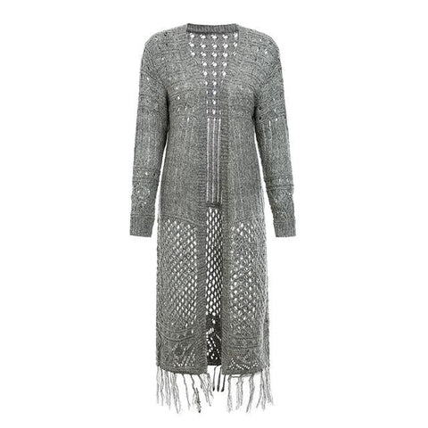 Image of Warm Nights Long Tassel Cardigan - Couture Look