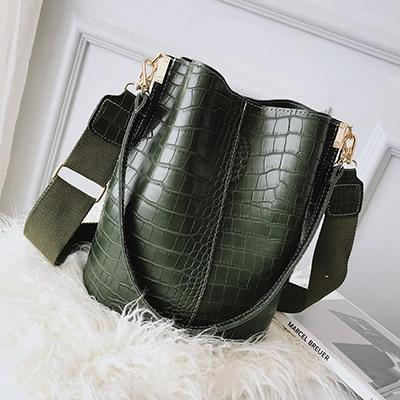 Lucky Girl Crocodile Embossed Tote Bag - Couture Look