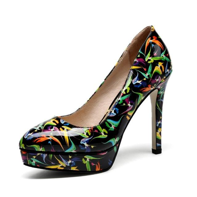 Midnight Graffiti Pumps - Couture Look