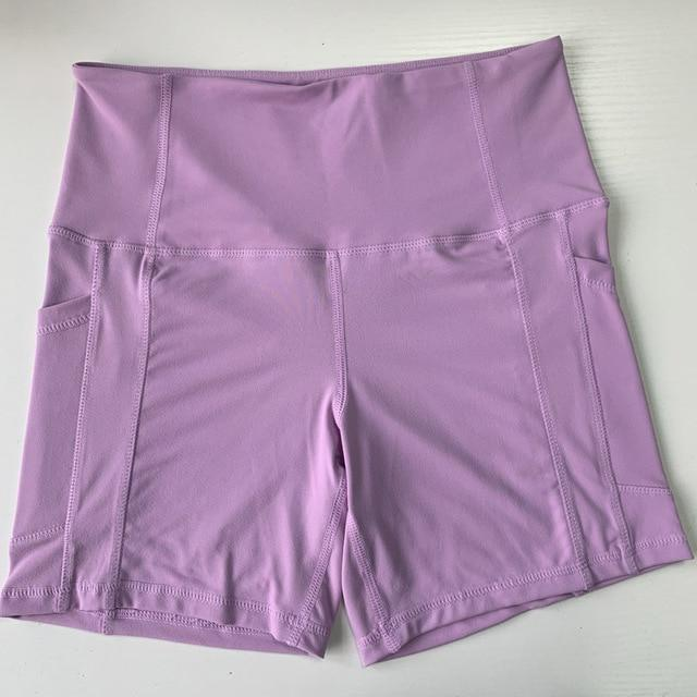 Curve High Waist Tight Workout Shorts - Couture Look