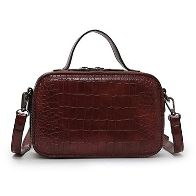 Image of Insta-Ready Crocodile Embossed Mini Handbag - Couture Look