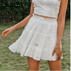 Casual Polka Dot Ruffles High Waist Skirt