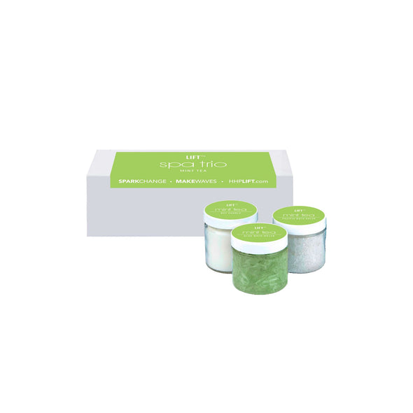 Trio Spa Set in Mint tea HHPLIFT Mint Tea