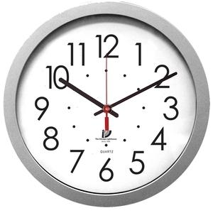 "Contemporary Silver 14.5"" Wall Clock HHPLIFT"