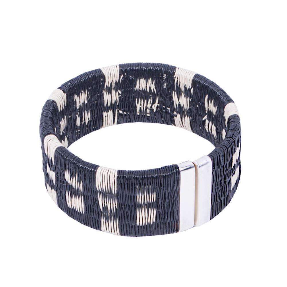 Palm Woven Cuff - Island HHPLIFT Island Black