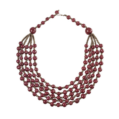 Classic Acai Necklace HHPLIFT Burgundy