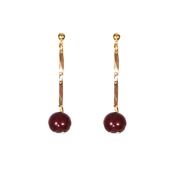 Ashby Earrings HHPLIFT Burgundy