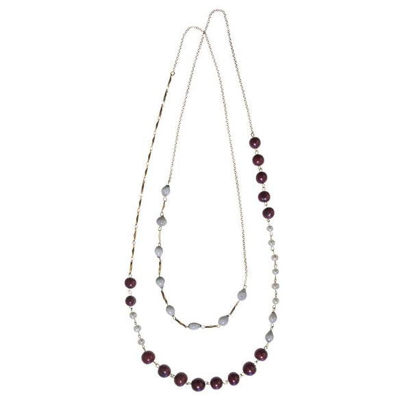 Ashby Necklace HHPLIFT Burgundy