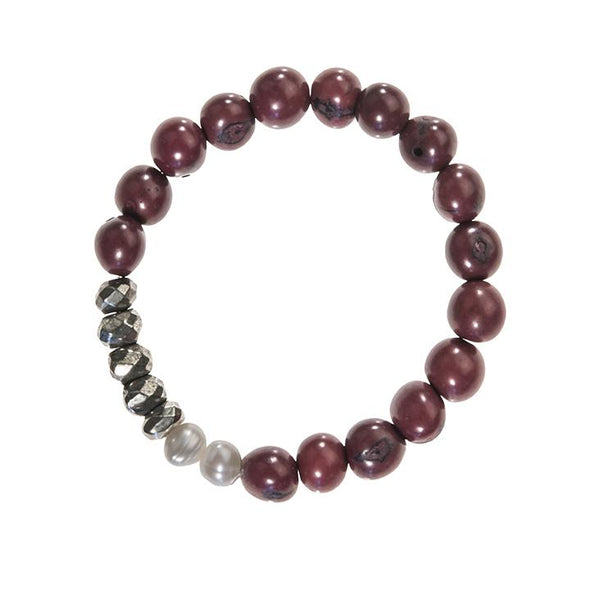 Becket Bracelet (Pyrite) HHPLIFT Burgundy