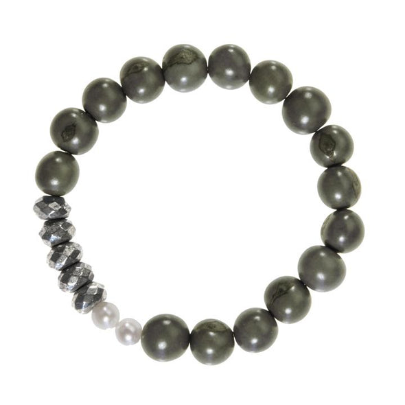 Becket Bracelet (Pyrite) HHPLIFT Olive